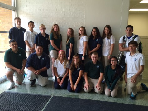 Say cheese!  Here is part of NDA's Tritonian staff.  Get ready for stories coming soon!