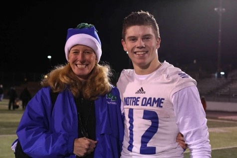 The photographer behind all the great photos--Molly Markland--and quarterback Robert Petitjean.