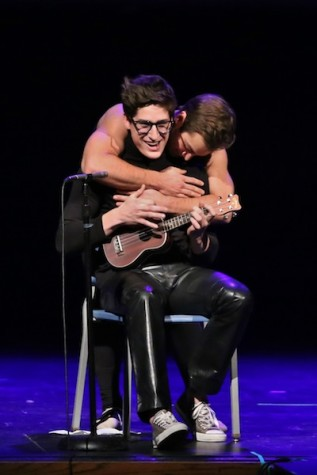 Wied gives Pavek a hug after Pavek's talent.