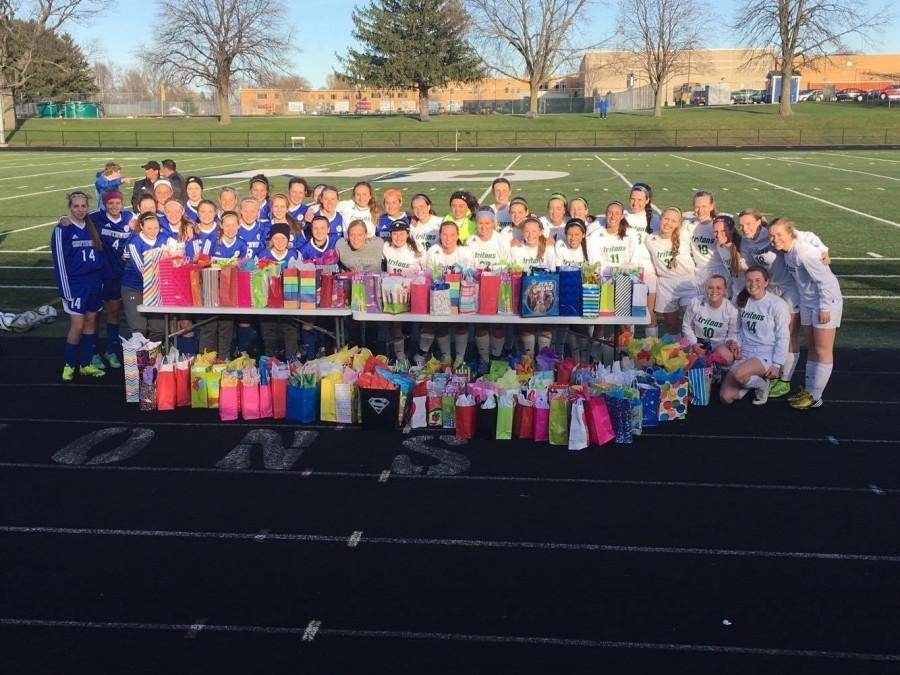 Almost 200 Birthday Packs Donated by Southwest, NDA Girls Soccer Teams