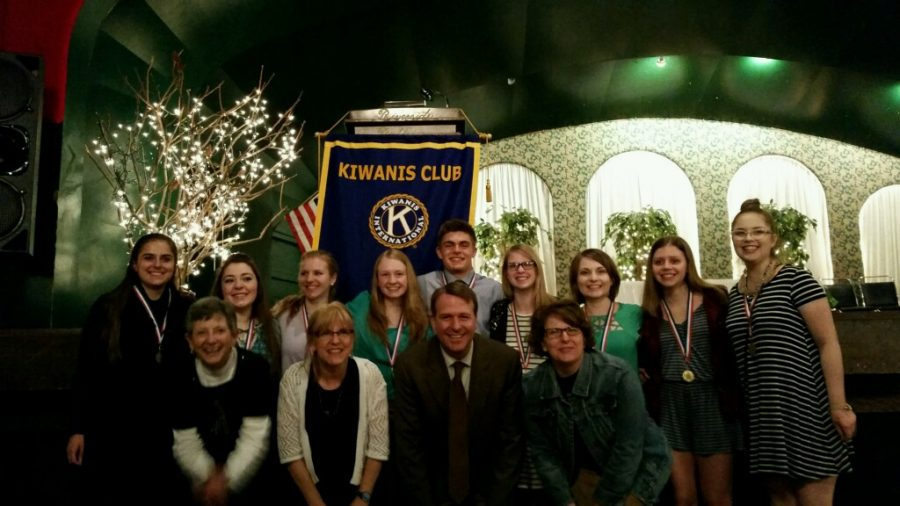 Nine Fine Arts Students Recognized by Kiwanis Club