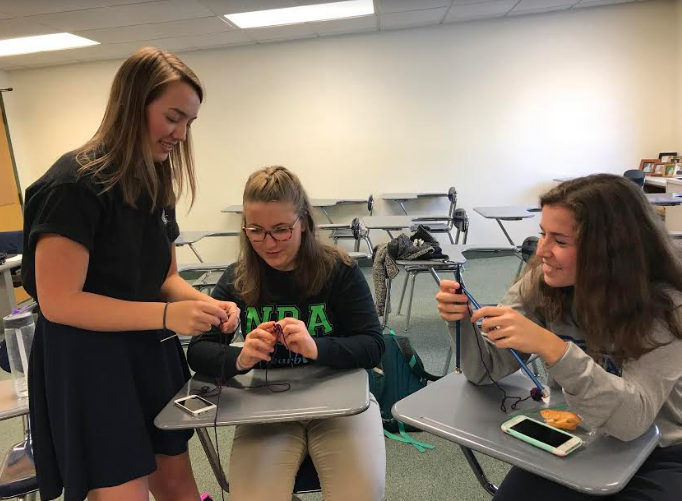 Three Seniors Start Popular Knitting Club