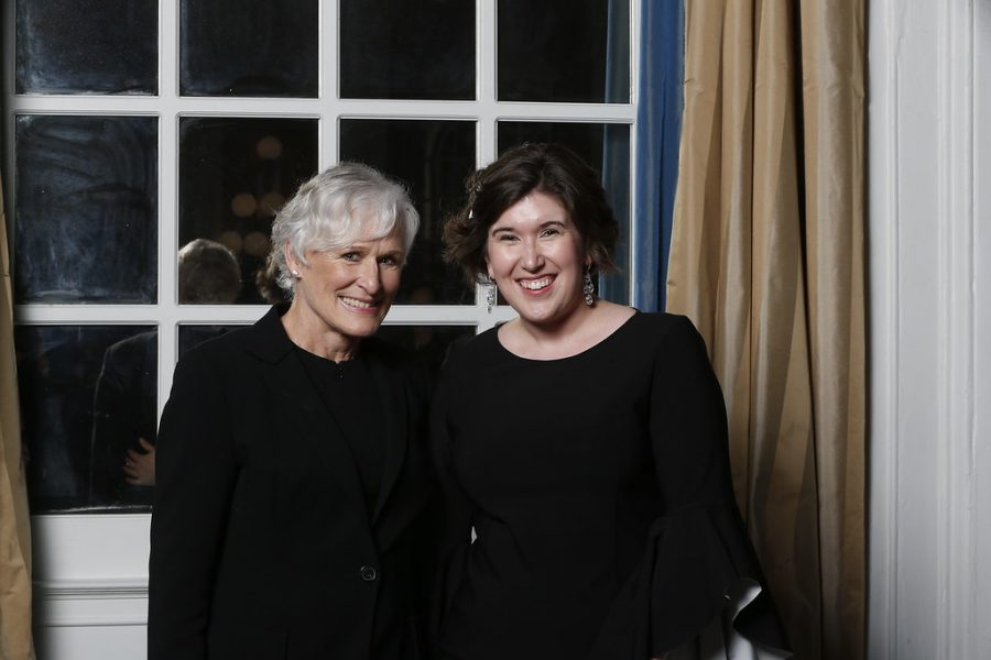 Ms. Jochman with Glenn Close