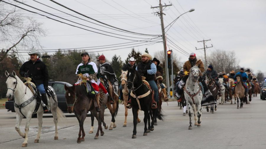 Gutierrez Joins Other Horseback Riders in Celebration of Our Lady of Guadalupe
