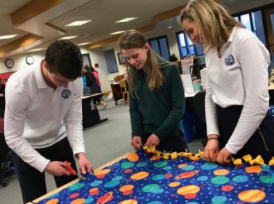 Sophomore Ditscheit Makes Blankets,  'Pays It Forward'