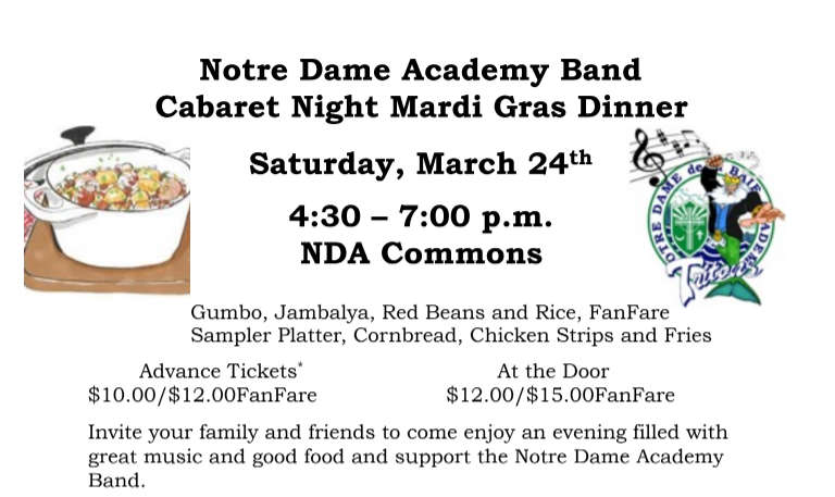 Plans Underway for Cabaret Night on Saturday, March 24