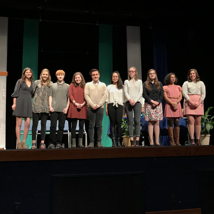 Top Ten Seniors Announced at Academic Honors Ceremony