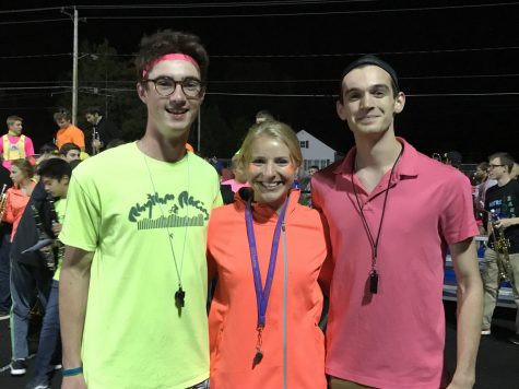 Three Drum Majors Keep Pep Band Rolling