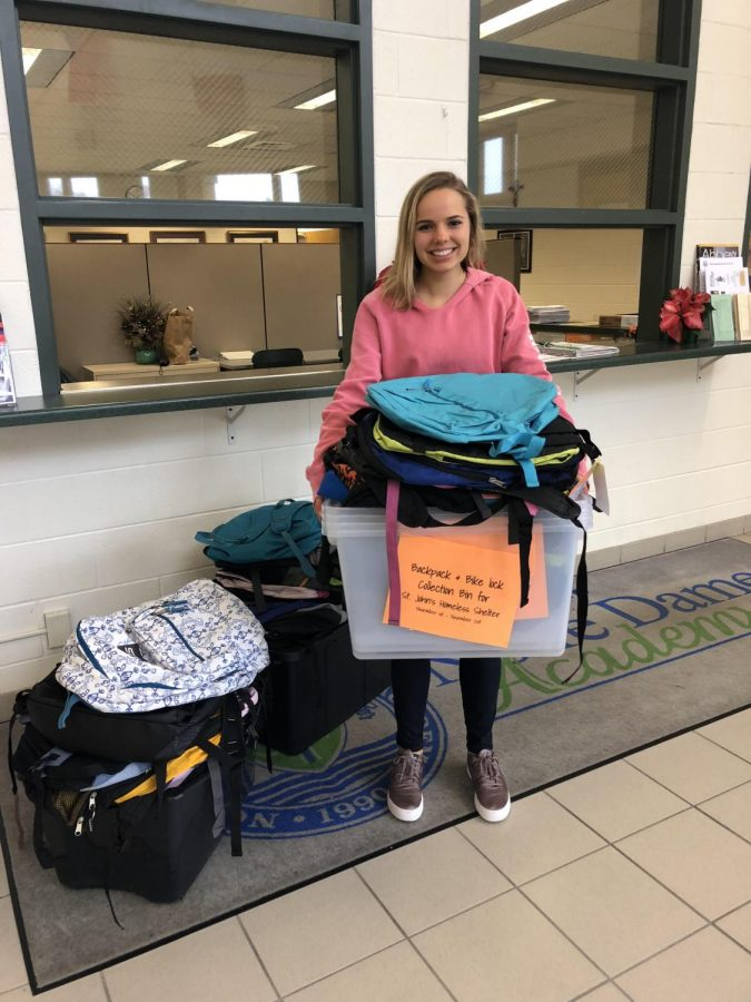 Smith's CAS Project Collects Backpacks for Homeless Shelter