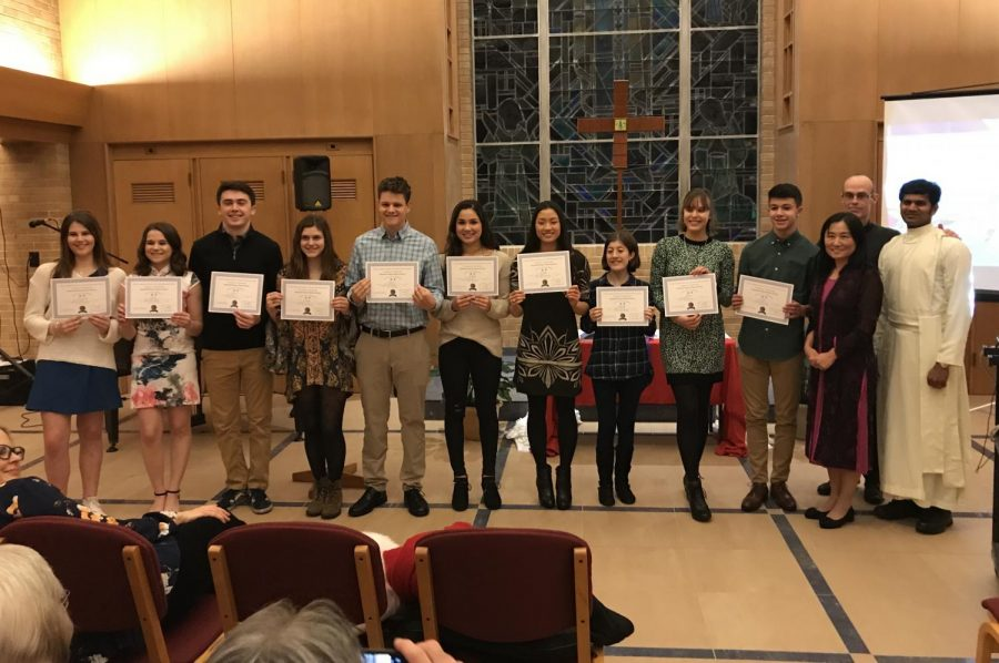 Ten Inducted into Chinese National Honor Society