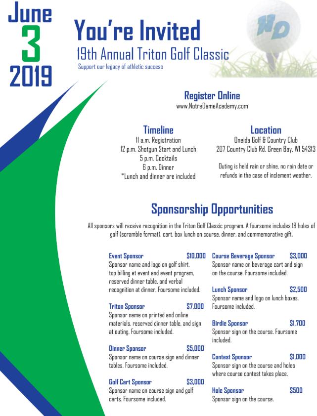 Triton Golf Classic Raises Funds for Triton Athletics