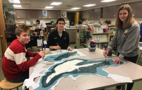 Art Students Working on Project for Tall Ships Festival