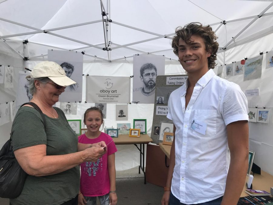 Owen Brummel Earns Best Young Artist Award at Art Street