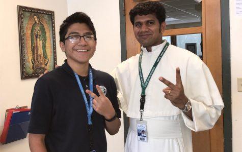 Sophomore Julio Zuniga Teaches Religious Ed Classes at St. Philip's