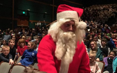 Visit from Santa Highlights Grade School Christmas Assembly