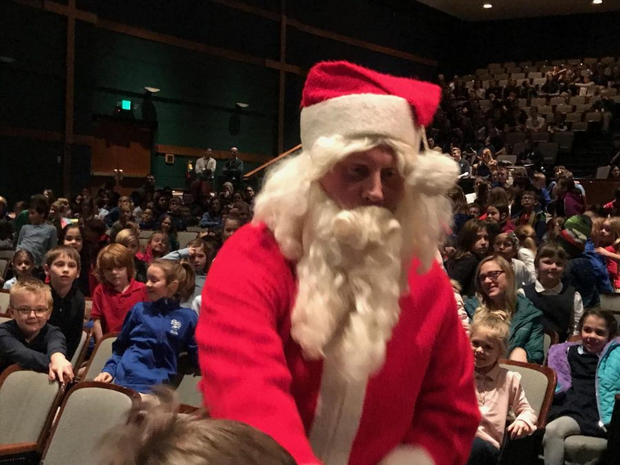 Visit from Santa Highlights Grade School Christmas Assembly