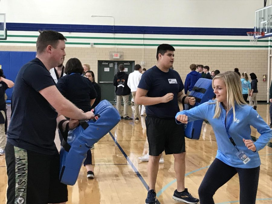 Seniors Practice Self-Defense at Senior Seminar