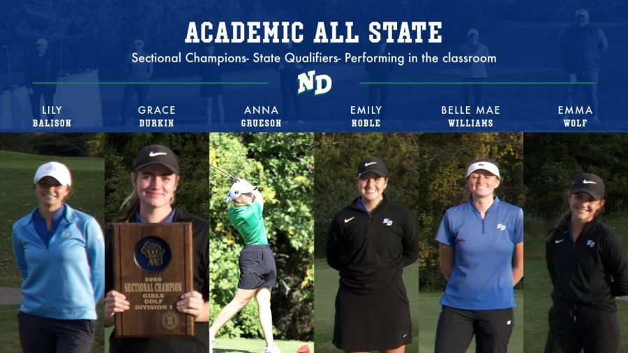 All Six Golfers Named Academic All-State