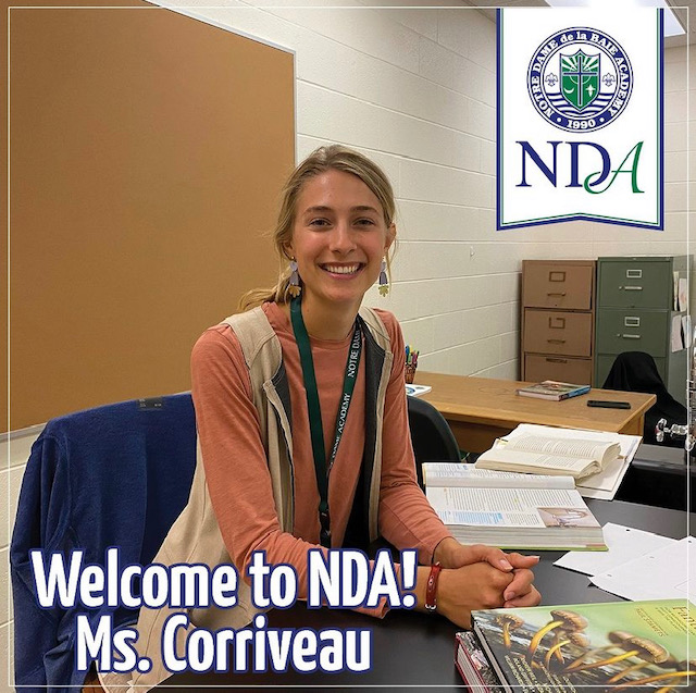 Grace+Corriveau+Returns+to+NDA%2C+Teaches+in+Science+Department+with+Mom